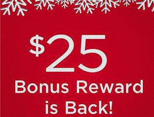 $25 bonus is back!